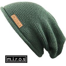 uomo lungo berretto Alex verde oliva fatto a mano invernale VON M. I. r.o.s