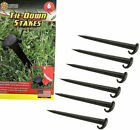 6-pack Adams Plastic Tie-Down Stakes for Anchoring Tents, Tarps, Inflatables