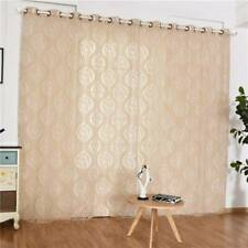 Polyester Panel Sheer Voile Window Curtains Drape Room Door Floral Drape DP