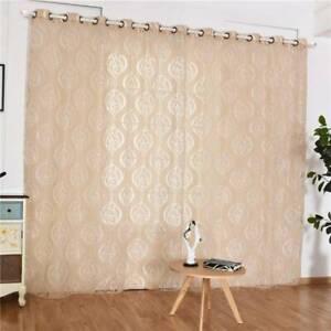 Door Window Tulle Voile Curtain Drape Panel Valances Room Divider Decor TO