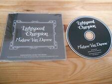 CD Indie Lightspeed Champion - Madame Van Damme (1 Song) Promo DOMINO sc