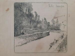 Vintage Frank Patterson The Pont Aberglaslyn print