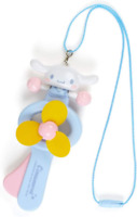 JAPAN Sanrio Cinnamoroll Dog Manual Hand Hold Fan Blue Cool Summer Travel Breeze