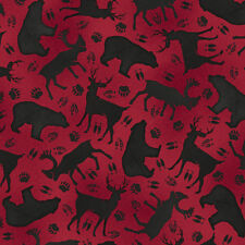 FABRIC QT ~ MOOSE TRAIL LODGE ~ Audrey Jean Roberts (26684 R) by the 1/2 yard