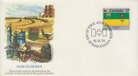CANADA #828 17¢ PROVINCIAL FLAGS - SASKATCHEWAN ON FLEETWOOD FIRST DAY COVER