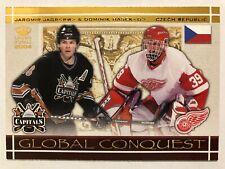 2003-04 Crown Royale Global Conquest Jaromir Jagr Dominik Hasek #2