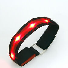 Sleek Red LED Flashing Safety Running Outdoor Sports Strap Band Reflective