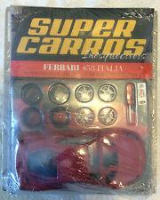 Ferrari 458 Model Kit Red Super Carros Inesqueciveis Italia Maisto 1/24 New