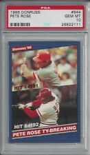 1986 Donruss Pete Rose #644 Ty Breaking  PSA 10 GEM MINT