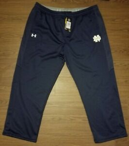 Under Armour Storm Cold Gear Notre Dame Fighting Irish Navy Track Pants 3XL NWT