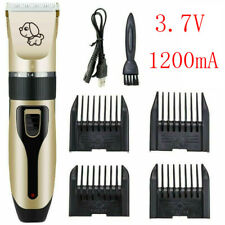 Electric Pet Hair Shave Clipper Low Noise Cordless Dog Cat Grooming Trimming Kit