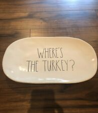 Rae Dunn Where's The Turkey? Large Platter