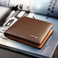 Men's Stylish Bifold PU Leather Purse Wallet Pocket Clutch Credit Card Holder WF