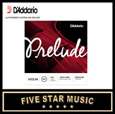 D'Addario J810 Prelude Violin String Set Medium Tension Steel Core NEW DADDARIO