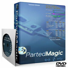 PARTED MAGIC Hard Drive SSD Disk Partitioning Cloning Erasing Data Rescue DVD