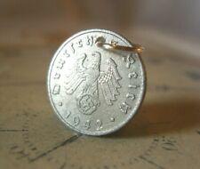 Vintage Pocket Watch Chain Fob WW2 1942 German Reich 5 Pfennig Coin With Eagle