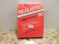 Realistic 8 Track Recording Tape Low Noise 80 Professional Quality 80 Minutes