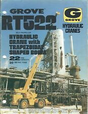 Equipment Brochure - Grove - Rt522 - Hydraulic Crane 3 items c1977/79 (E4046)