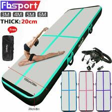 3m 4m 5m 6m 20cm Thick Air Track Inflatable Tumbling Gymnastics Mat Yoga W/ Pump