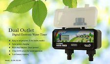 DV EL201 Greneds 2 ZONE  LCD EASY Water Timer(3~145psi ,Solenoid,Solar&RainStop)