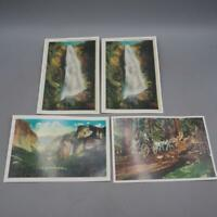 Lot of 4 Postcards Yosemite National Park California