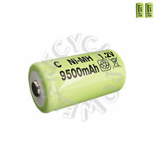 2 pc C Size 9500mah Ni-MH 1.2V Rechargeable Battery Cell green