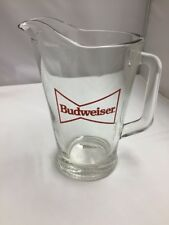 Vintage Budweiser Glass Pitcher Bowtie Logo