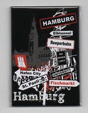 Magnet HAMBURG Rathaus Schilder Kühlschrankmagnet Pinnwand Souvenir NEU NT262