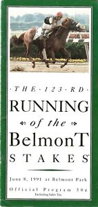 1991 - 123rd Belmont Stakes program in MINT Condition - HANSEL