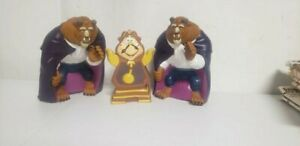 Vintage Pizza Hut Disney Beauty & The Beast Vinyl Rubber puppets