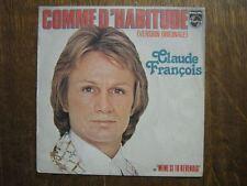 CLAUDE FRANCOIS 45 TOURS FRANCE COMME D'HABITUDE