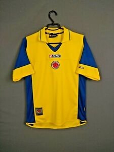Colombia Jersey 2002/04 Home SMALL Shirt Mens Camiseta Football Lotto ig93