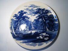 Antique J & M P Bell Pottery, Glasgow 'Sardinia' Landscape Plate. 26cms Diameter