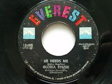 "GLORIA LYNNE - He Needs Me / The Lamp Is Low 1961 JAZZ SWING Everest 7"""