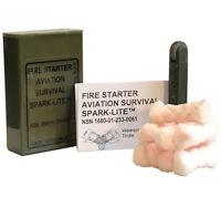 Spark Lite Fire Starter Olive Drab 8 Tinder Quik Tabs for Military Survival Kit