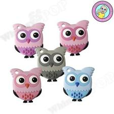 Wise Owl Teethers Food Grade Silicone Baby Safe Pendant Sensory Teethers