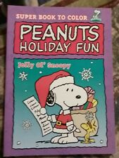"""SNOOPY COLORING SUPER BOOK TO COLOR """"JOLLY OL' SNOOPY"""" NEW"""