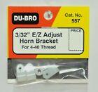 DU-BRO E/Z ADJUST HORN BRACKET FOR 4-40 THREAD (PACKAGE OF 4)( CAT. # 557 )