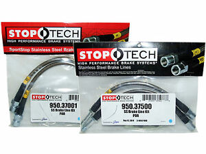 Stoptech Stainless Steel Braided Brake Lines (Front & Rear Set / 37001+37500)