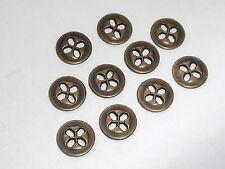10 Stück Metallknöpfe Knopf Knöpfe  12 mm altmessing NEUWARE rostfrei #988#