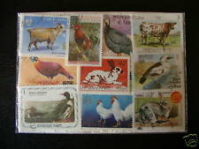 ** TIMBRES ANIMAUX DE LA FERME : 50 TIMBRES TOUS DIFFERENTS **