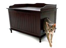 Designer Catbox Litter Box Enclosure in Espresso - Open Box Item