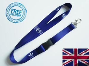 A D I D A S navy blue Lanyard Neck Strap for Keys ID Card Holder W 20mm L 52cm