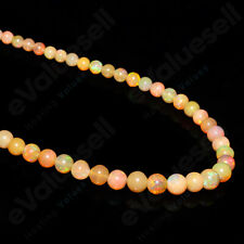 Ethiopian Opal Beaded Necklace 925 Sterling Silver Handmade Natural Women Gift