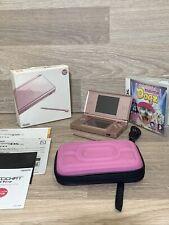 Nintendo DS Lite Console Metallic Pink Japan model Boxed Fantatic Condition