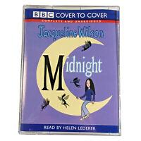 Childrens Audio Book Midnight By Jacqueline Wilson 4 Cassette Tapes Unabridged