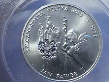 2002 MW silver 10 zlotych Poland MS w Pilce Noznej Korea Japonia