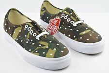 6cd980ee94c49e Vans Authentic Camo Polka Dot Mens Size 8.5 Skate Shoes Woodland Green