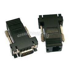 5 Pcs VGA Extender Male to LAN RJ45 CAT5 CAT6 Female Network Cable Adapter Black