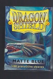 Dragon Shield Matte Blue (100) Shield Sleeves Free Shipping